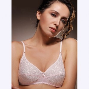 Dreams Cotton Chikan Bra with Thin Straps