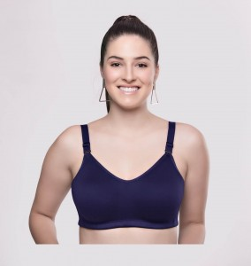 Riza Superfit Satin Luxury Full Coverage Bra Sapphire
