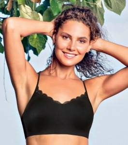 Enamor F095 Lace T-Back Bralette Black