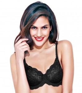 Enamor DB05 Full Support Lace Bra - Medium Coverage • Non-Padded • Wired